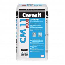 Клей для крепления керамической плитки размером до 40х40 см Ceresit CM 11 PLUS