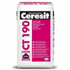 Универсальная штукатурно-клеевая смесь с армирующими микроволокнами Ceresit CT 190